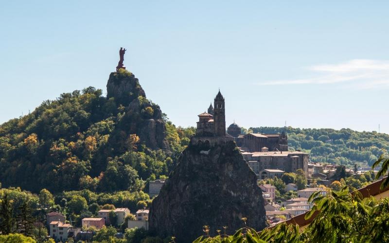 Die Wahrzeichen von Pe Puy en Velay