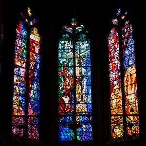 Jakobsweg Metz Kathedrale Detail Fenster Apsis