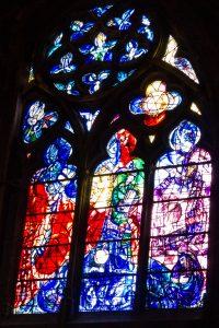 Jakobsweg Metz Kathedrale Detail Fenster Chagall