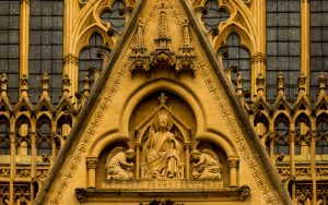 Jakobsweg Metz Kathedrale Portal Detail
