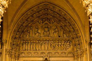 Jakobsweg Metz Kathedrale Portal Relief