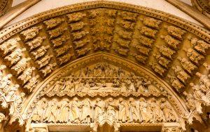 Jakobsweg Metz Kathedrale Portal Seiteneingang