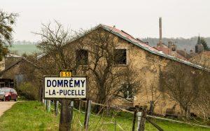 Jakobsweg Domremy La Pucelle Ortsschild