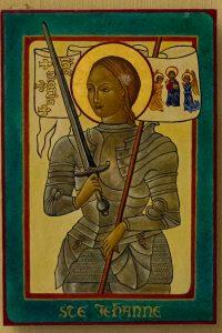 Jakobsweg Domremy La Pucelle Kirche Ikone Jeanne d'Arc