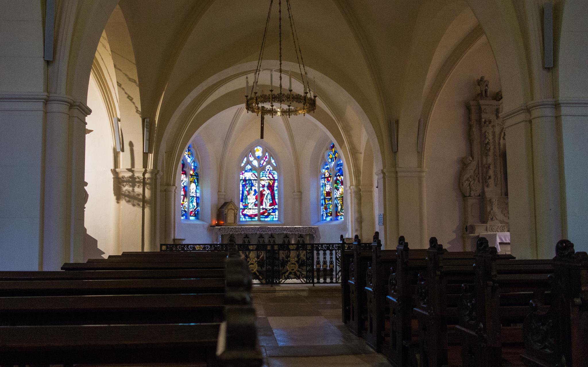 Jakobsweg Domremy La Pucelle Kirche Innenraum
