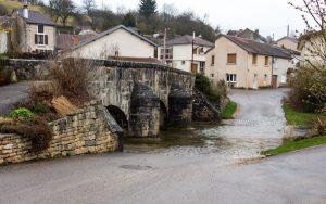 Jakobsweg Rollainville Brücke und Furt