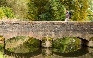 Jakobsweg Cormatin alte Brücke über die Grosne Frank Stückradt