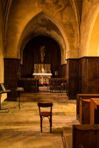Jakobsweg Mercurey Kirche Interview mit Gott