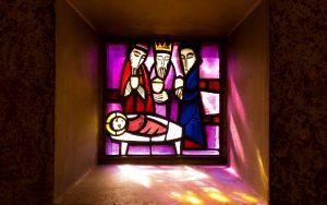 Jakobsweg Taize Fenster drei Könige
