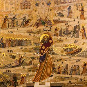 Jakobsweg Lyon Basilika Mosaik Jakob