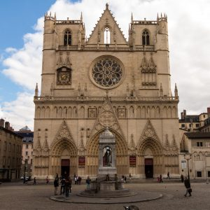 Jakobsweg Lyon Kathedrale Saint Jean Baptiste Fassade