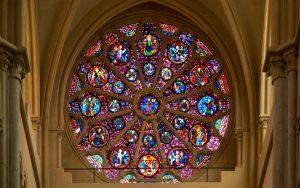 Jakobsweg Lyon Kathedrale Saint Jean Baptiste große Rosette