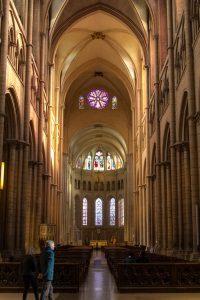 Jakobsweg Lyon Kathedrale Saint Jean Baptiste Innenraum