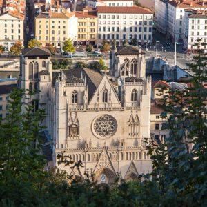 Jakobsweg Lyon Kathedrale Saint Jean Baptiste von oben