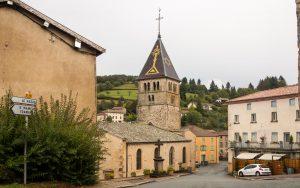 Jakobsweg Ouroux Kirchturm