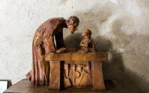 Jakobsweg Pommiers Josef und Jesus