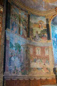 Jakobsweg Pommiers Kirche Fresken