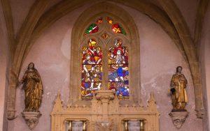 Jakobsweg Saint Maurice Kirche Fenster