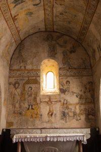 Jakobsweg Saint Maurice Kirche Fresken Apsis