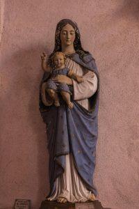 Jakobsweg Saint Maurice Kirche Maria mit Kind