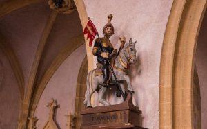 Jakobsweg Saint Maurice Kirche Statue Maurice