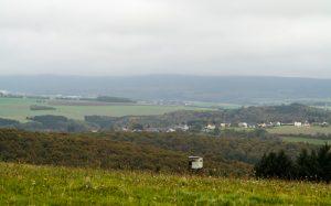 Jakobsweg Hunsrück trübes Panorama