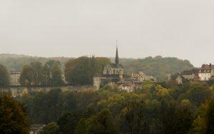 Jakobsweg Grancey le Chateau Kirche Panorama