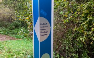 Jakobsweg Hunsrück: Spruchsäule im Wald
