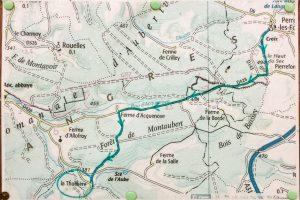 Jakobsweg Karte Unterkunft La Thuilliere