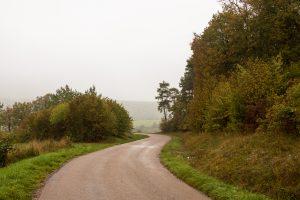 Jakobsweg Lamargeleee aux Bois feuchter Weg