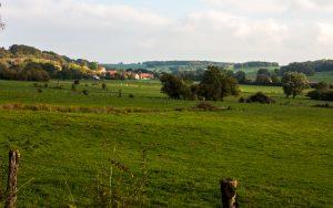 Jakobsweg Plesnoy Blick auf Marcilly