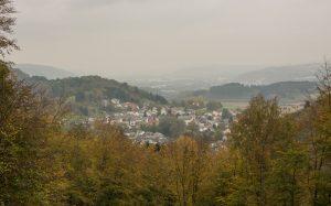 Jakobsweg Tawern Panorama im Dunst
