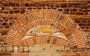 Jakobsweg Trier Dom Detail Mauerwerk Seitenwand