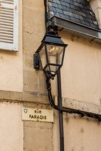 Jakobsweg Beaune Detail Rue Paradis