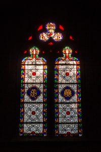 Jakobsweg Beaune Kirche Fenster Ornamente