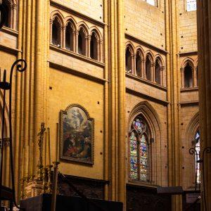 Jakobsweg Dijon Kathedrale Seitenschiff