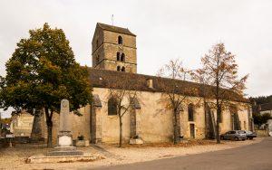 Jakobsweg Mercurey Kirche Totale