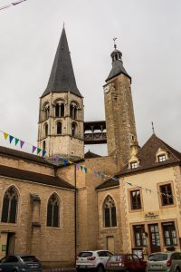 Jakobsweg Saint Gengoux le National Kirchturm