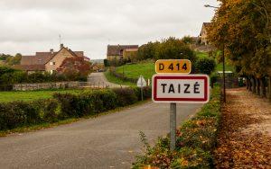 Jakobsweg Taize Ortsschild