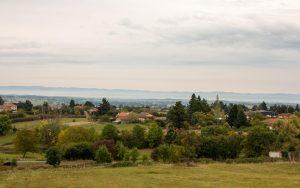 Jakobsweg Renaison Loire Tal Panorama