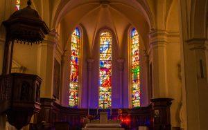 Jakobsweg Saint Jean Kirche Fenster Apsis