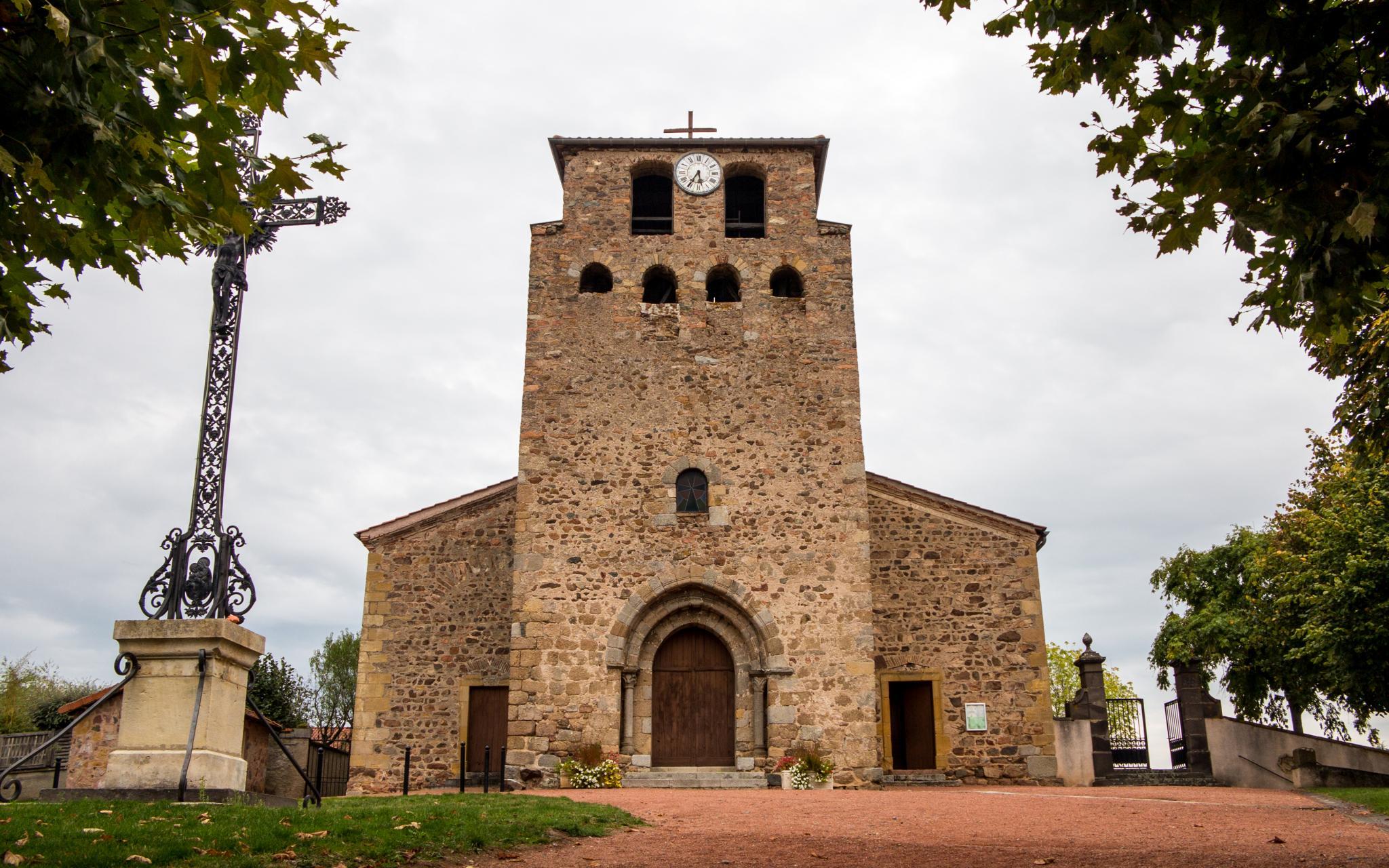 Jakobsweg Saint Jean Kirche von Außen
