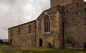 Jakobsweg Montverdun Kirchenmauer