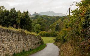 Jakobsweg Sainte Agathe la Bouteresse Blick auf Montverdun