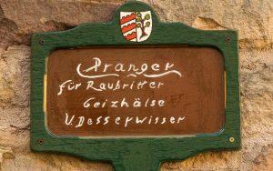 Bonifatius-Route Blankenau Prangerschild