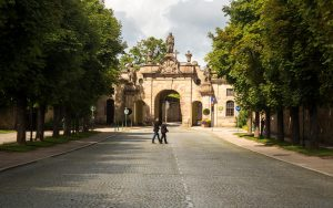 Bonifatius-Route Fulda Park Eingang