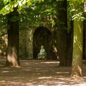 Bonifatius-Route Fulda Park kleiner Springbrunnen
