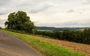 Bonifatius-Route Glauburg Panorama mit Hoherodskopf