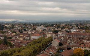 Jakobsweg Montbrison Blick über die Stadt