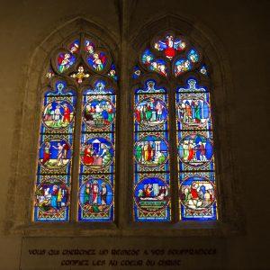 Jakobsweg Montbrison Kirchenfenster